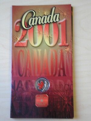 Canada 2001 25 Cent Maple Leaf Colored Specal  Edition