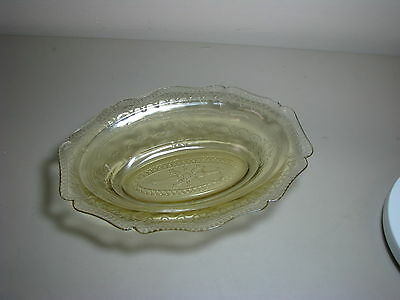 """Federal Patrician Oval Bowl 10"""" Amber Depression Glass"""