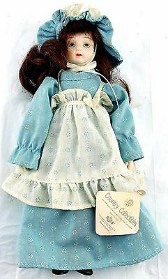 "Russ Country Collectibles Porcelain Doll Bessie Girl 8"" Style No. 1600 USED"