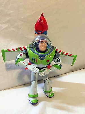 Disney Toy Story Buzz Lightyear Flying Action Rocket Action figure by Thinkway