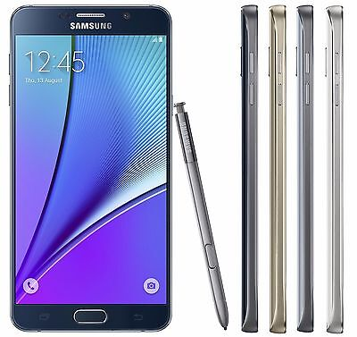 Samsung Galaxy Note 5 64GB SM-N920i (FACTORY UNLOCKED) - Black White Silver Gold