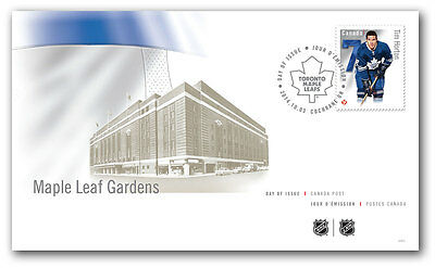 NHL Tim Horton Toronto Maple Leafs Canada Post First Day Stamp Cover