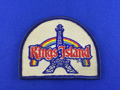 Vintage Kings Island Embroidered Iron On Patch