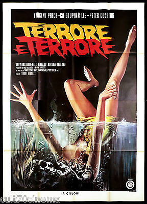 Terrore E Terrore Manifesto Film Vincent Price Christopher Lee Cushing Horror 4F