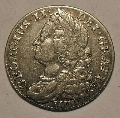 1745 George II Shilling Lima. Collectable .