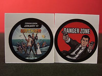 Set of Two Archer Collectible New Get Glue Stickers NLA & Spy School
