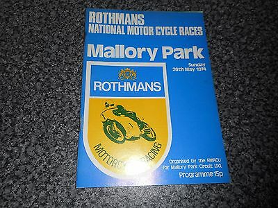 ROTHMANS NATIONAL MOTOR CYCLE RACES @  MALLORY PARK ~ MAY 26th,1974 *FREE POST*