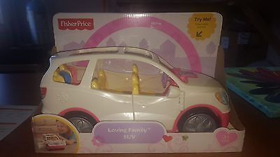 Fisher Price Loving Family SUV Roll Sounds Doors Kids Active Imagination Fun New