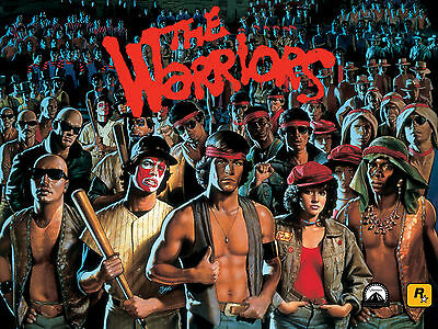 The Warriors 1979 Movie Cast Animated Rockstar Poster