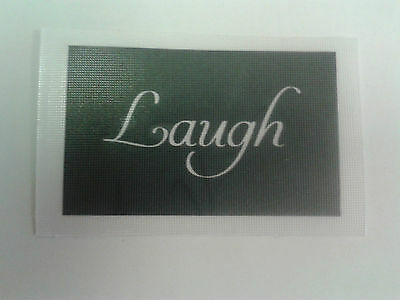 10 x laugh word stencil for etching glass craft present etch hobby gift