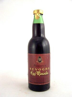 Miniature circa 1973 ANGOVES SEVOGNA EGG MARSALA 71ml Isle of Wine