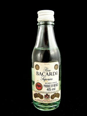 Miniature circa 1975 BACARDI Rum 45ml (Mexico) A Isle of Wine