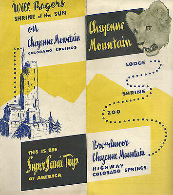 Cheyenne Mountain Lodge Will Rogers Shrine Colorado Springs Attractions Brochure