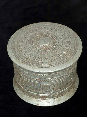 Ethnic food container in aluminium, Hill Tribes, Golden Triangle 1940's