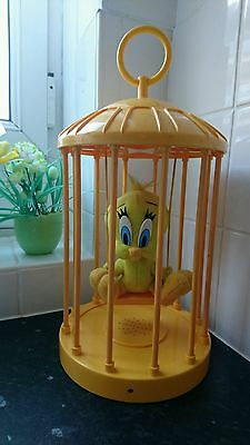 Warner brothers tweety bird caged on swing sensored talking toy collectors item