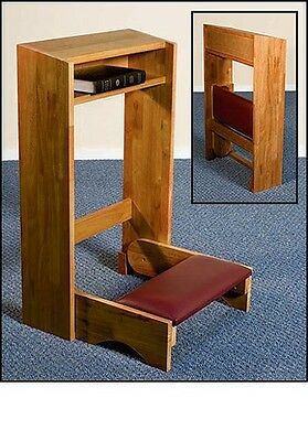 Pecan Stain Folding Church Prayer Kneeler ~Handcrafted Solid Maple~Prie Dieu