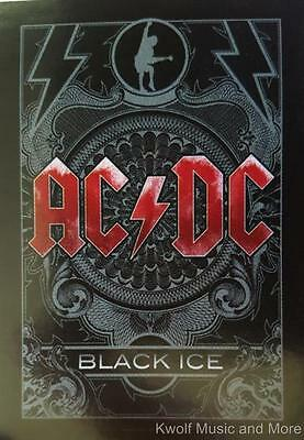 """AC/DC  Flag/ Tapestry/ Fabric Poster """"Black Ice""""  NEW"""