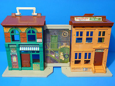 Vintage 1974 Fisher-Price #  938 Sesame Street Play Family House Building Only