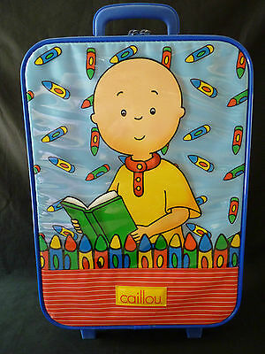 Caillou Rolling Suitcase Kids/Child Travel Luggage RARE! (2001) SEE PHOTOS