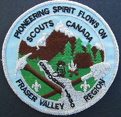 Boy Scouts Canada Fraser Valley B.c. 1990 Embroidered Patch Regional Cuboree