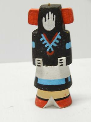 VINTAGE HOPI INDIAN HIGHWAY ROUTE 66 POT CARRIER KACHINA - by Gabe Duwyenie XLNT