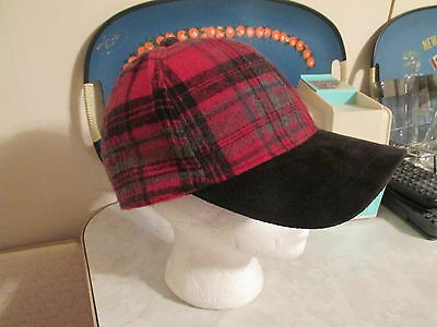 Free People wooly black white faux suede brim houndstooth Baseball Hat O//S NWOT