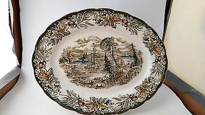 "Ridgway - Heritage - Scenes of Early Canada - 12 1/8"" Oval Serving Platter"