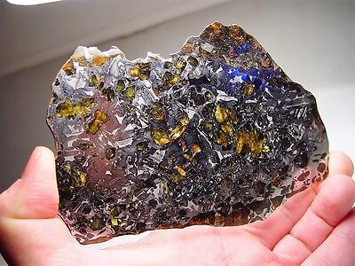 Great Deal! Amazing Crystals! Sensational Seymchan Pallasite Meteorite 254.1 Gms