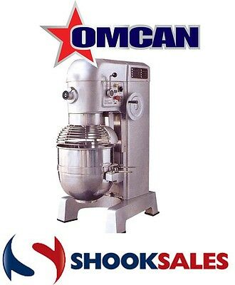 Omcan 19999 60qt GENERAL PURPOSE Mixer with Guard 3 attachments