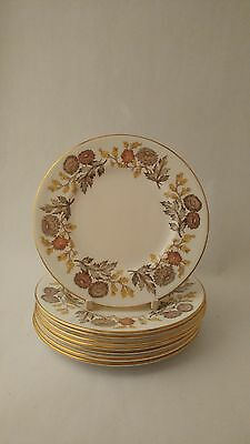 """Wedgwood Lichfield W4156 Set of Eight 6"""" Bread & Butter Plates"""