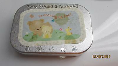 Baby's Hand & Footprint Kit With Cradle