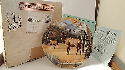 """Dominion China 8 5/8"""" The Elk with Box & Papers"""