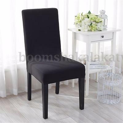 6pcs Fiber Stretch Dining Chair Cover Washable Removable Slipcover Dinning Cover