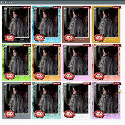 Topps Star Wars Card Trader Jyn Erso Exclusive Preview 25 CC Complete Set of 12