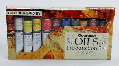 Daler-Rowney Georgian Artists Oil Paint Introduction Set 10 Tubes of 22 mL