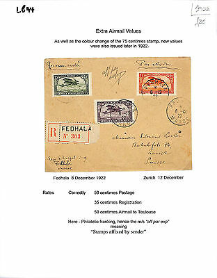 LB94 1922 French Morocco/Extra Airmail Values/