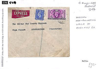 E44 1948 4 Kings Express, Unusual Non-Philatelic Usage of Olympics 6a