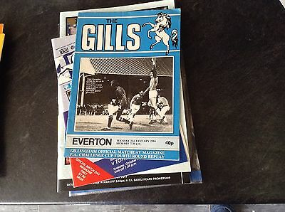 Gillingham V Everton. 31/1/84. F A Cup Rd4 Replay