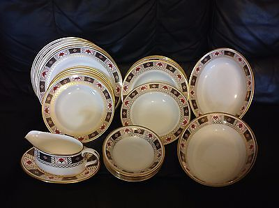 Royal Crown Derby Border China A1253 PART DINNER Service