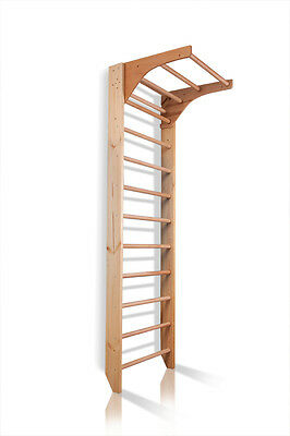 Swedish Ladder Wall Bars Wooden Children Home Gym Gymnastic Sport Playground Toy