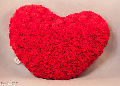 Large Red Heart Valentine Day Throw Pillow Cush Sofa Home Decor New DOB 10-2010