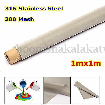 Woven Wire 300 Mesh 1x1m 316 Stainless Steel Screening filter Filtration Large