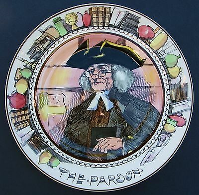 """Royal Doulton Series Ware Plate Professions """"the Parson"""" 10.5"""" England"""