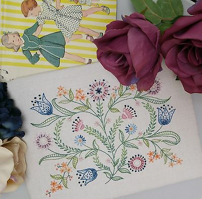 Transfered Embroidery Kit : Dotty Softs ; Beautiful Kits by Maggie Gee