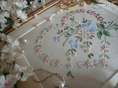 Embroidery Kit: 'Sophie' : Pink ;  Beautiful Kits By Maggie Gee