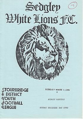 SEDGLEY WHITE LIONS V AUDLEY RANGERS - 3rd RND SOUTH STAFFS CUP - 2/12/90