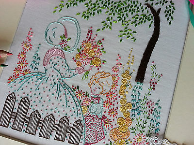 Embroidery Kit: Picking Flowers:Beautiful Kits By Maggie Gee Needlework Studio