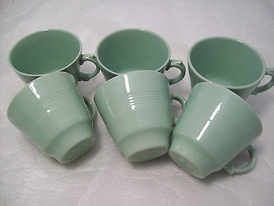 Vintage 1950 - 70's Woods Green Beryl Pattern Small Coffee Cups