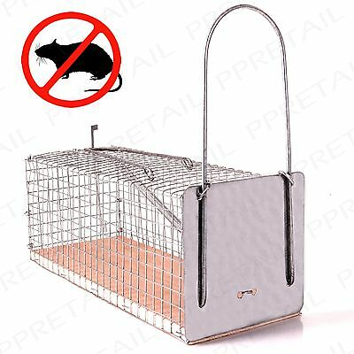 HUMANE LARGE MOUSE/RODENT CAGE Easy Reusable Spring Set Poison Free Bait Trap