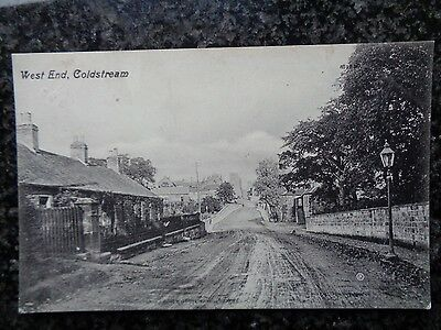 West End Coldstream Nr Kelso Used B/W Ptd Card - Used Locally 1917